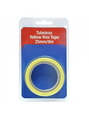 Nastro Tubeless Yellow Rim Joe'S No Flats 25mm rotolo da 9m