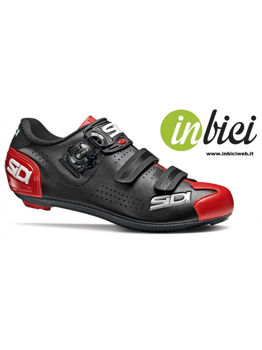 Scarpe Corsa SIDI ALBA 2 Nero / Rosso con chiusura Tecno - 3 System